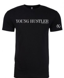 men black crewneck young hustler