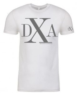 men white crewneck dxa silver