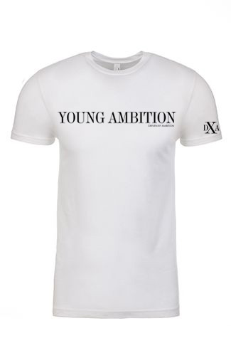 men  white crewneck young ambition