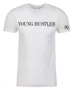 men white crewneck young hustler