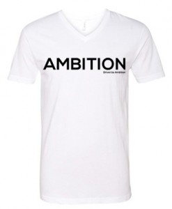 men vneck white ambition