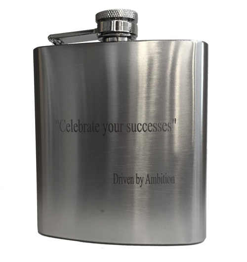 Engraved Premium Flask – Celebrate