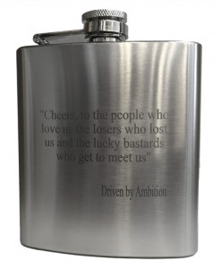 Engraved Premium Flask - Cheers