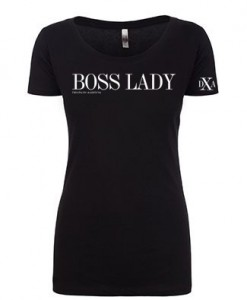 women scoop black bosslady